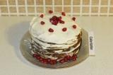 Готовое блюдо: торт из тыквенных панкейков