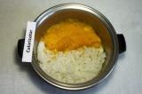 Шаг 5. Смешать тыкву, и рис, добавить сахар (по вкусу).