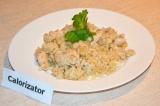 Готовое блюдо: рис с имбирем и куриным филе
