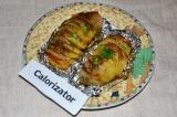 Готовое блюдо: картошка-гармошка в фольге