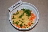 Шаг 3. Зеленый лук мелко порезать и добавить к ингредиентам.