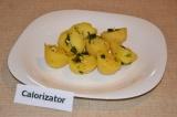 Готовое блюдо: картофель в чесночном соусе
