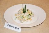 Готовое блюдо: салат с куриным филе и грибами