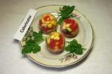 Готовое блюдо: заливные яйца