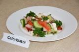 Готовое блюдо: овощной салат с брынзой