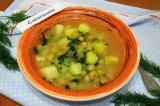 Картофельный суп с нутом и зеленью