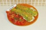 Готовое блюдо: кабачки фаршированные