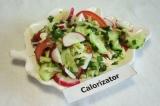 Овощной весенний салат