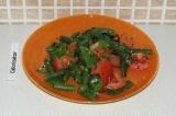 Готовое блюдо: теплый салат с стручковой фасолью