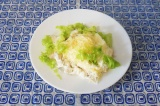 Готовое блюдо: белковый салат из куриного филе