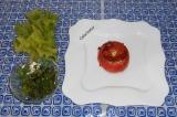 Шаг 7. Украсить зеленью перед подачей, и если остался творог с зеленью, то также