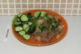 Готовое блюдо: бигус с говядиной и помидором