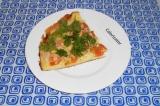 Готовое блюдо: быстрая пицца с ветчиной