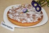 Готовое блюдо: пирог с бананом и персиком