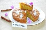 Готовое блюдо: кекс с яблоком на кукурузной муке