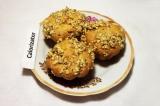 Готовое блюдо: тыквенные кексы с орехами
