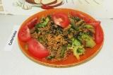 Готовое блюдо: паста с овощами
