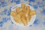 Готовое блюдо: закуска из куриного филе и сыра