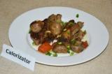 Готовое блюдо: свиные ребра с грибами