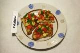 Готовое блюдо: брускетта с овощами