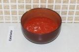 Шаг 4. Взбить блендером помидоры.