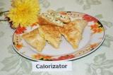 Готовое блюдо: лаваш с творогом и зеленым луком
