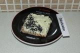 Готовое блюдо: бутерброд с домашним плавленым сыром