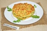 Готовое блюдо: сырные лепешки с зеленью