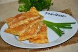 Готовое блюдо: лаваш с сыром и брынзой в духовке