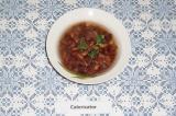 Готовое блюдо: фасолевый суп с белыми грибами