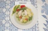 Шаг 6. Перед подачей добавить в тарелку половинку яйца.