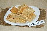 Готовое блюдо: рулет из лаваша с капустой