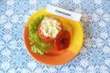 Готовое блюдо: омлет в помидоре