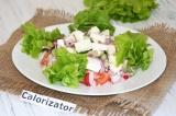Готовое блюдо: салат с редисом и брынзой