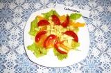 Салат с апельсином и авокадо