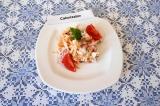 Овощной салат с творогом