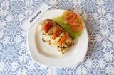 Готовое блюдо: курица с базиликом и томатами