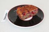 Готовое блюдо: простой кекс с клюквой