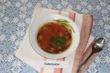 Готовое блюдо: томатно-фасолевый суп