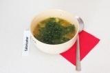 Готовое блюдо: суп с брокколи