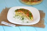 Готовое блюдо: мясная запеканка с овощами