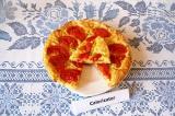 Готовое блюдо: творожный пирог с томатами