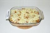Шаг 9. Присыпать макароны сыром и отправить в духовку еще на 5 минут. Украсить