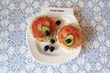 Готовое блюдо: бутерброды с баклажанной пастой