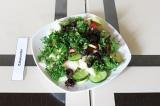 Готовое блюдо: салат с молодым кабачком