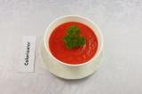 Готовое блюдо: суп-пюре из запечённых овощей