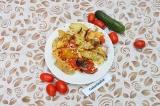 Готовое блюдо: картофель по-деревенски