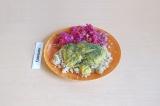 Готовое блюдо: киноа с тыквенным соусом