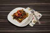 Готовое блюдо: лазанья с баклажанами
