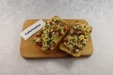 Готовое блюдо: чиабатта с омлетом